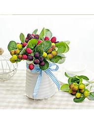 """1 Ramo Seda / Gel Silica Plantas / Fruta Flor de Mesa Flores artificiais Total High:10.5"""""""