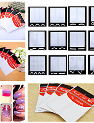 10Cards/Bag French Nail Art Sticker Manicure Stencil / French Tips Guide Makeup Cosmetic Nail Files Design(Assorted Design)