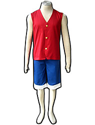 One Piece Cosplay Costumes Top / Shorts /Vest  Male