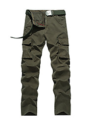 Men's Plus Size Straight Chinos / Sweatpants Pants,Casual/Daily / Sports Simple / Active Solid Low Rise Zipper / Button Cotton