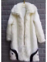 Winter Fur Coat Long Sleeve Faux Fur