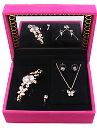 Jewelry 1 Necklace / 1 Pair of Earrings / Rings / 1 Package / 1 Watch Wedding / Party / Daily Crystal / Zircon 1set Women Gold / Silver