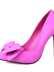 Women's Shoes Slip-on Fleece Bowknot Heels/Pumps Pointed Toe Stiletto Heels Party/Dress Shoes