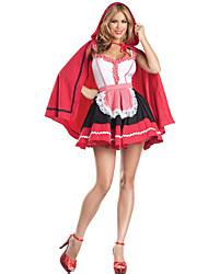 Costumes de Cosplay Cosplay Cosplay de Film Rouge Couleur Pleine Robe / Châle Halloween / Carnaval Féminin Polyester