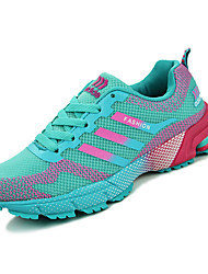 Women's Athletic Shoes Fall Winter Platform Comfort PU Outdoor Casual Athletic Fuchsia Green Navy Walking