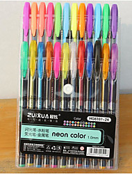24 couleurs stylo de couleur flash (24pcs)