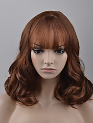 Europe and the United States Women 's Fashion Qi Liu Hai Brown Mixed Color High - Temperature Wire Wig