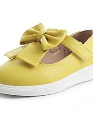 Girls' Flats Comfort PU Casual Comfort Yellow Peach Blushing Pink Flat