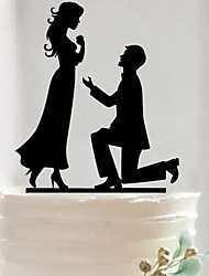 Acrylic Mr & Mrs Cake Topper Non-personalized Acrylic Wedding / Anniversary / Bridal Shower  16.2*14.3*0.27