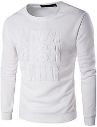 Sweatshirt Homme Décontracté / Quotidien Actif simple Lettre Col Arrondi Micro-élastique Polyester Manches Longues Automne Hiver