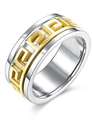 Ringe Hochzeit / Party / Alltag / Normal / Sport Schmuck Edelstahl / vergoldet Herren Ring / Verlobungsring 1 Stück,7 / 8 / 9 / 10