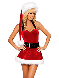 Cosplay Costumes Santa Suits Festival/Holiday Halloween Costumes Red Patchwork Dress / More Accessories Christmas Female Terylene
