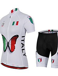 Sports Cycling Jersey with Shorts Women's Short Sleeve BikeBreathable  Quick Dry  Anatomic Design  Back Pocket