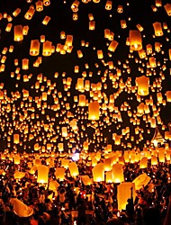 10pcs Chinese Paper Lantern Sky Lanterns Flying Wishing Lamp Kongming Lantern Balloon Wedding Party Decoration