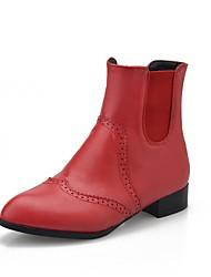 Women's Boots Spring / Fall / Winter Comfort PU Office & Career / Dress / Casual Low Heel Black / Tan Walking