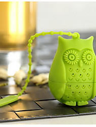 Owl Shape Loose Leaf Tea Infuser Filter Novelty Perforated Silicone Bird Gift