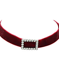 Women's Choker Necklaces Velvet Basic Fashion Black Gray Red Jewelry Party 1pc