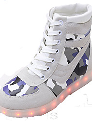 LED Light Up Shoes, Unisex Sneakers Spring Fall Winter  Crib Shoes Ankle Strap Suede Casual Athletic Flat Heel Lace-up Black WhiteBasketball Fitness &