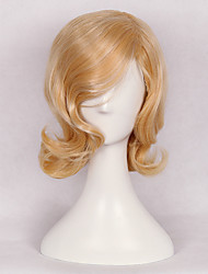 Blonde Wave Wig for Female Daily Wearing or Cosplay Lolita New Style High Quality Heat Resistant High Temperature