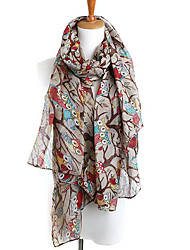 Women Silk Scarf,Casual RectangleSolid