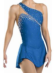 Ice Skating Dress Women's Sleeveless Skating Dresses High Elasticity Figure Skating Dress Breathable / Comfortable Lace Elastane Blue