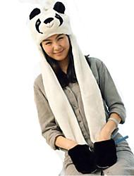 Kigurumi Pijamas Panda Chapéu Festival/Celebração Pijamas Animal Branco Miscelânea Pele Falsa / Poliéster Chapéus Para UnisexoDia Das