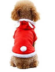 Cães Fantasias Vermelho Roupas para Cães Inverno / Primavera/Outono Animal Casual
