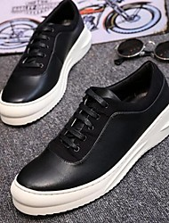 Men's Sneakers Comfort Cowhide Casual Black