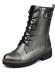 Women's Boots Spring Fall Winter Platform Comfort Customized Materials Leatherette Office & Career Dress Casual Flat Heel Platform Others