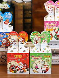 azar del color del ESTILO 10 unids bricolaje de dibujos animados de Navidad ao nuevo Caja de regalo caramelo lindo cajas de tomates