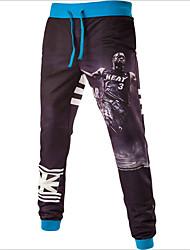 Hommes Droite Joggings Pantalon,Actif Vacances / Décontracté / Quotidien / Sportif Imprimé Taille Normale Cordon Viscose Micro-élastique