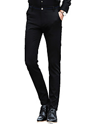 Men's Plus Size Straight / Slim Chinos Pants,Casual/Daily / Work / Party/Cocktail Vintage / Simple / Street chic Solid Low RiseZipper /