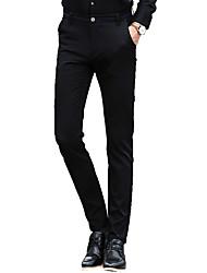 Hommes Grandes Tailles Droite / Mince Chino Pantalon,Vintage / simple / Street Chic Travail / Soirée / Cocktail / Décontracté / Quotidien