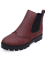 Women's Boots Fall / Winter Platform Suede Outdoor / Casual Chunky Heel Others Black / Green / Gray / Tan / Burgundy Walking