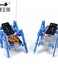 Crab kingdom DIY Technology Small Production Teaching Materials Hexapod Robot Model Assembled Parent-child Handmade Toys (Remote Version)