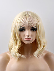 Europe and the United States Ms. fashion pear head light gold short hair high temperature wire wig