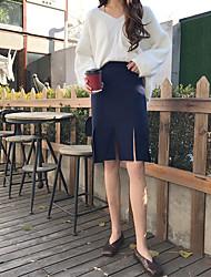 papier signe personne laine split jupe