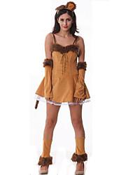 Costumes de Cosplay Animal Fête / Célébration Déguisement Halloween Jaune Couleur Pleine Jupe / Plus d'accessoires Noël Féminin