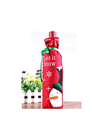 Merry Christmas Style Red Wine Packaged Bags(One Piece,Color Red)