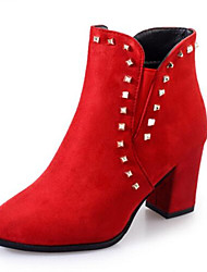 Women's Boots Others Leatherette Outdoor Low Heel Black Yellow Red Others