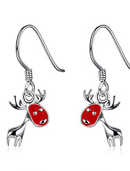 Women Christmas Gift The Deer Eardrop Ear Hook Earrings