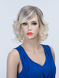 Stunning Mid-length Capless Wigs Natural Wavy Human Ombre Hair