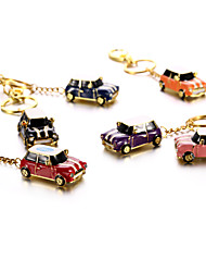 Crystal Metal Car with Keychain USB 2.0 Flash Pendrive U Disk 16GB