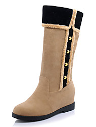 Women's Fall / Winter / Fashion Boots/Round Toe/Low Heel/Office & Career/ Dress /Casual/Ruffles