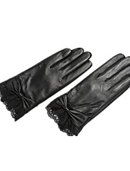 (NOTE-L CODE) LEATHER GLOVES LADIES WINTER PLUS CASHMERE WARM SHEEPSKIN TOUCH SCREEN GLOVES