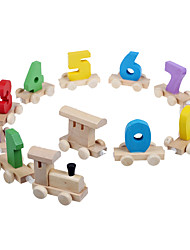 Educational Toy Train Wood Rainbow