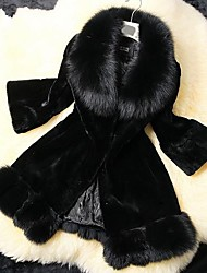 Women's Faux Fox Fur Parka Winter Fur Coat