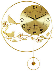 Modern/Contemporary Houses Wall Clock,Round Acrylic / Aluminum / Metal 55*40CM Indoor Clock
