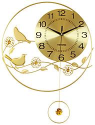 Модерн Домики Настенные часы,Круглый Акрил / Алюмин / Металл 55*40CM В помещении Часы
