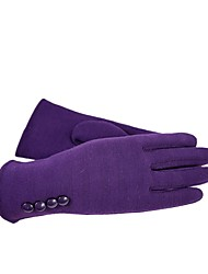 (NOTE - PURPLE) LADIES FASHION FOUR BUTTONS TOUCH SCREEN GLOVES TO KEEP WARM VELVET GLOVE
